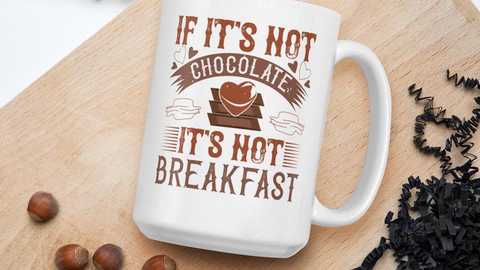 White Glossy Mug | Chocolate