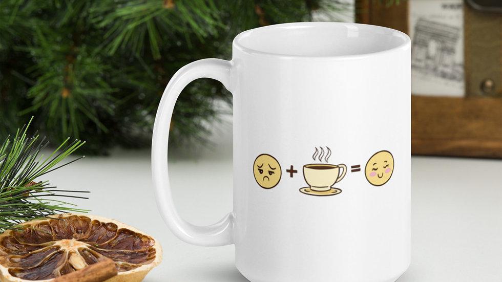 White glossy mug | Coffee Mood