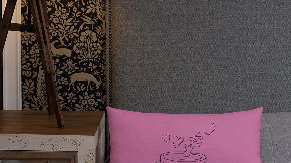 Premium Pillow | Cat | Coffee | Tea