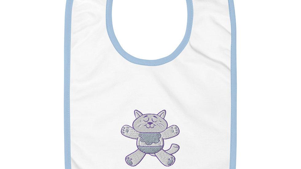 Cat | Embroidered Baby Bib