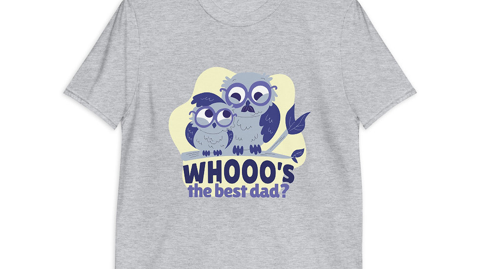 Best Dad Owl T-Shirt | Short-Sleeve | Men
