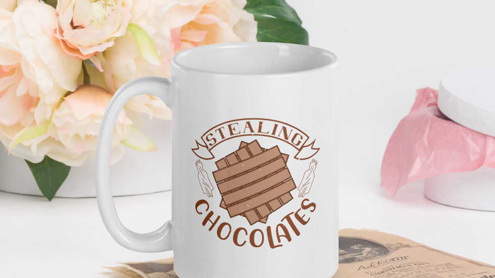 Glossy Mug | Stealing Chocolates