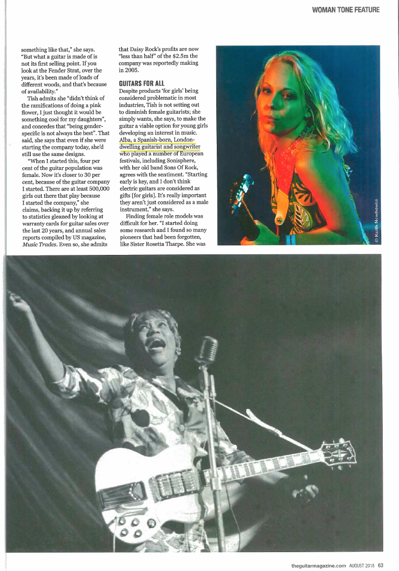 Feature in Guitar Magazine