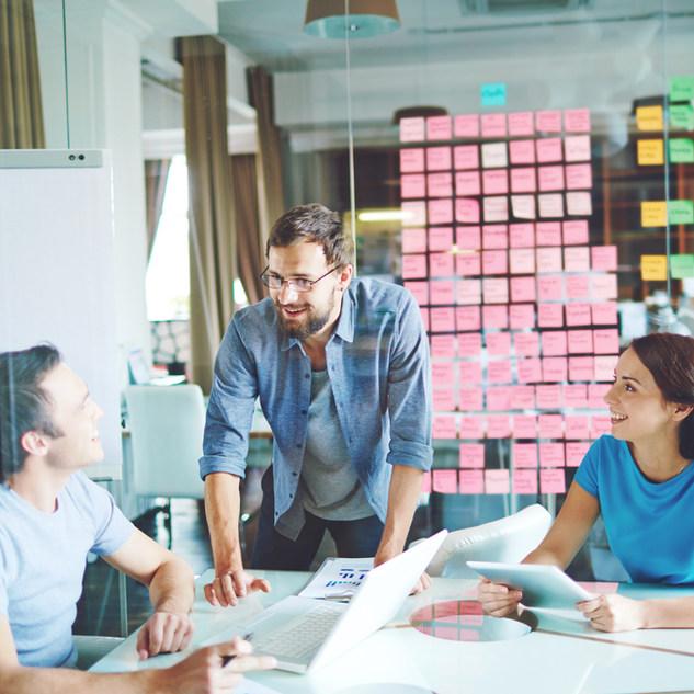 Rebranding team brainstorming design