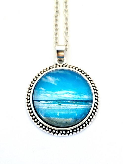 Summer Love Ocean Photo Necklace