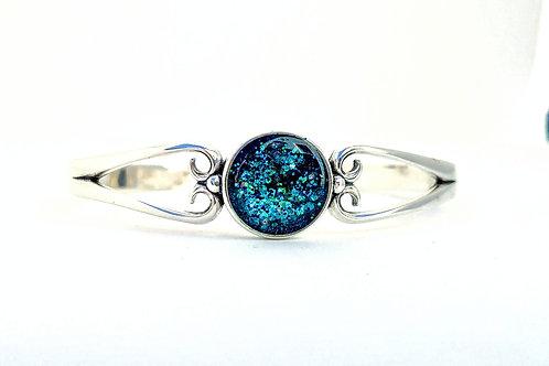 Tahitian Daydream:  Sterling Silver Cuff Bracelet
