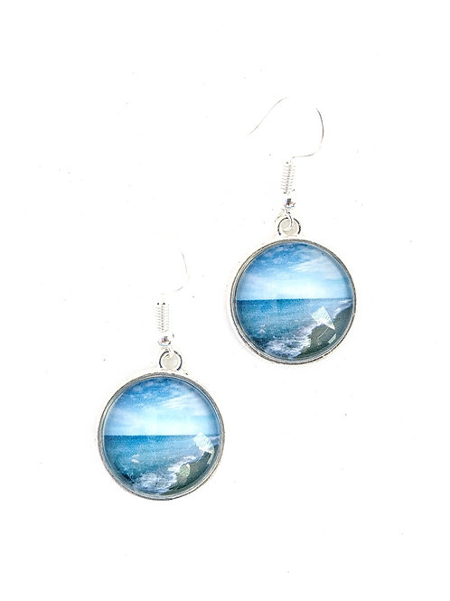 Breathe:  Ocean Photo Earrings