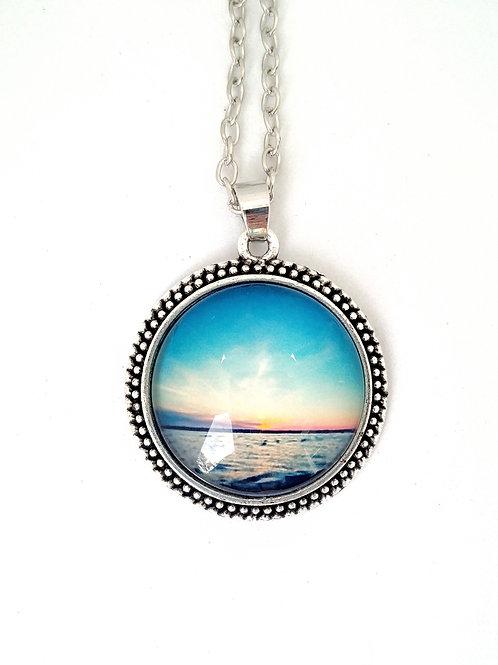 Serenity:  Sunset Photo Necklace