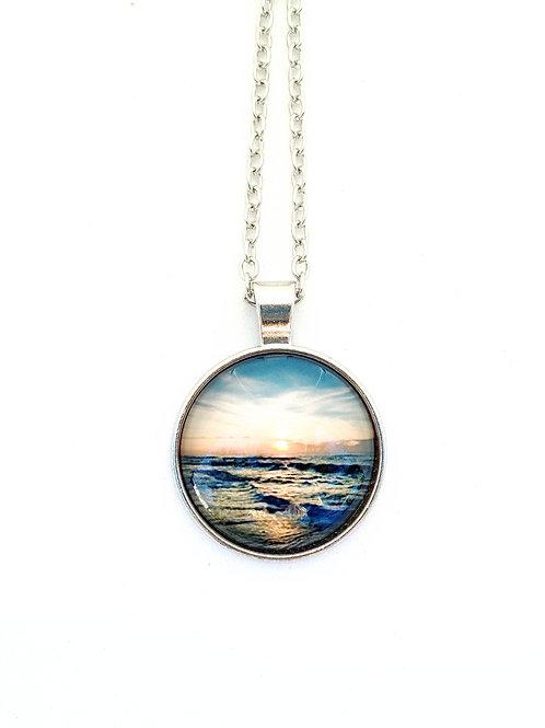 Grateful: Ocean Sunrise Photo Necklace