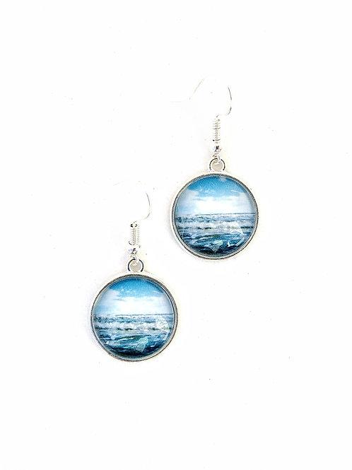 Jump In:  Ocean Wave Earrings