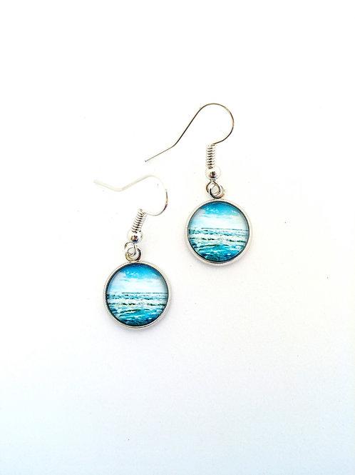 Jump In:  Ocean Photo Earrings