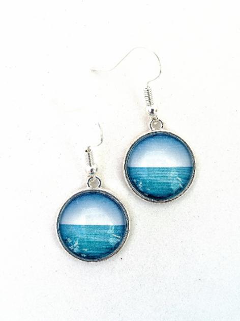 Calm:  Ocean Photo Earrings