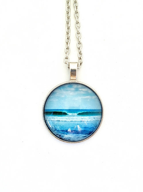 You Can:  Wave Photo Necklace