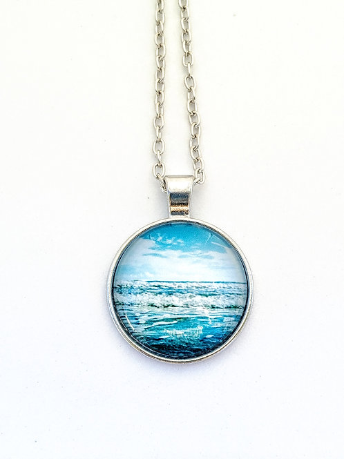 Jump In: Wave Photo Necklace