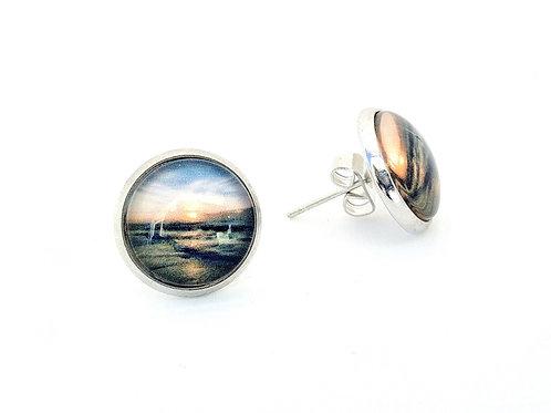 Grateful:  Ocean Sunrise Post Earrings