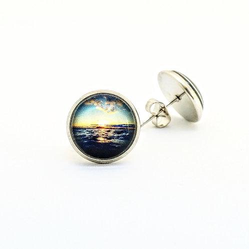 Joyful: Sunset Photo Post Earrings