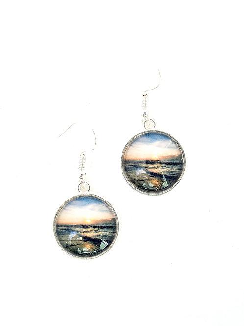Grateful:  Ocean Sunrise Earrings