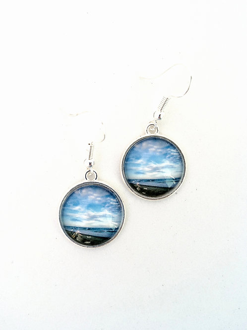 Thankful:  Ocean Photo Earrings