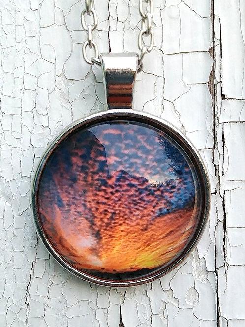 Sky Magic:  Sunset Photo Necklace