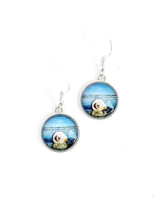 Mermaid Treasure:  Shell Photo Necklace