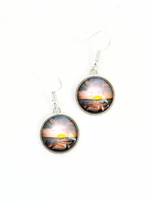 Sailor's Delight:  Ocean Sunrise Earrings