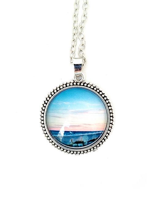 Anchored: Sunset Photo Necklace
