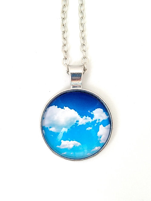 Float with Me:  Cloud Photo Necklace
