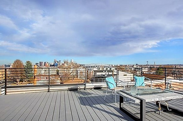 Staging a rooftop deck