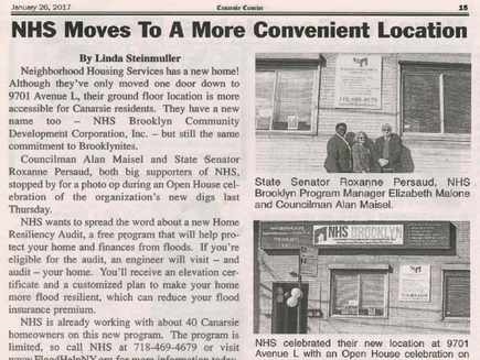 """Canarsie Courier"" on NHS Brooklyn's Open House"
