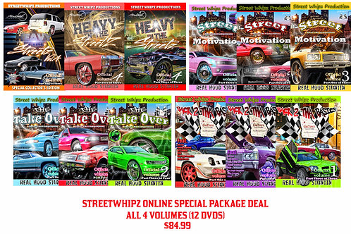 Street Whipz Package(14 DVDS) INCLUDES NEW DVDs