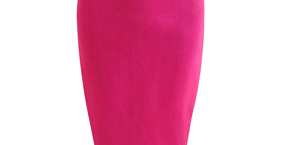 Pink Midi Premium Bandage side stripe skirt