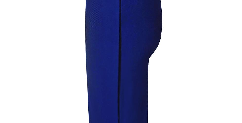 Blue Midi Premium Bandage side stripe skirt