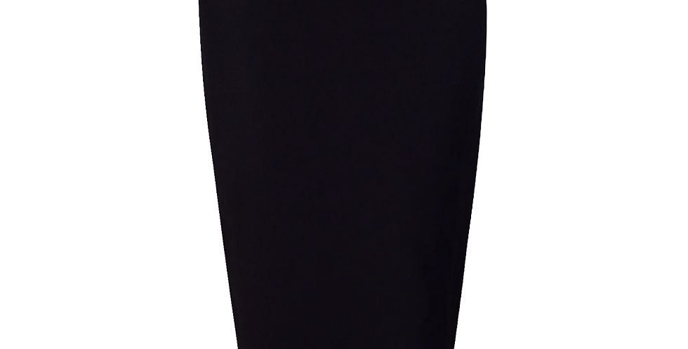 Black Midi Premium Bandage leather side stripe skirt