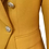 Thumbnail: Mustard Yellow Textured Double Breasted Blazer