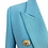 Thumbnail: Turquoise Textured Double Breasted Blazer