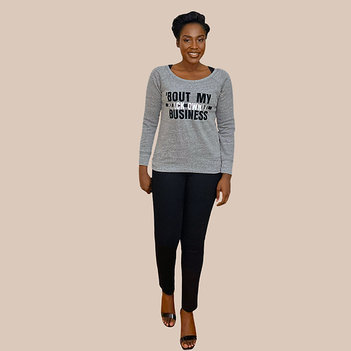Grey BLACK OWNED BUSINESS Sweats