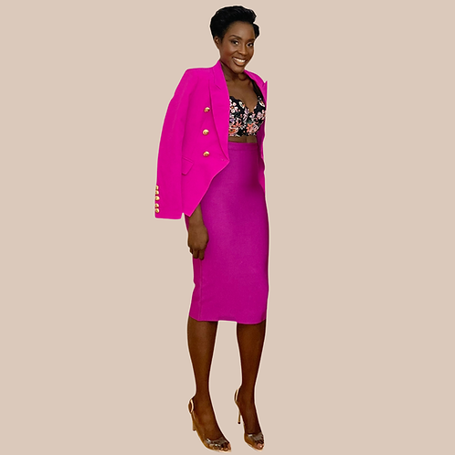 Pink Bandage Pencil Skirt