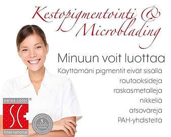Swiss Color pigmentointi ilman haitallis