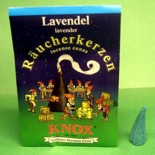 "#014-140 - Famous KNOX Brand ""Lavender"" Incense Cones - 5 pc Sample Packet"