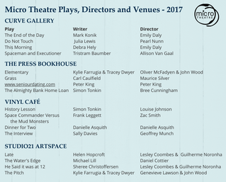 A Big Lineup for our Small Theatre Festival