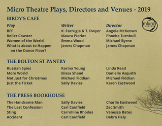 Micro Theatre Program 2019