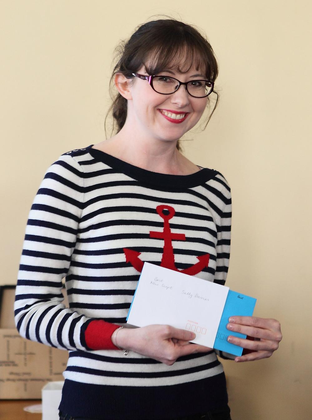 Sally Davies, winner of Best New Script
