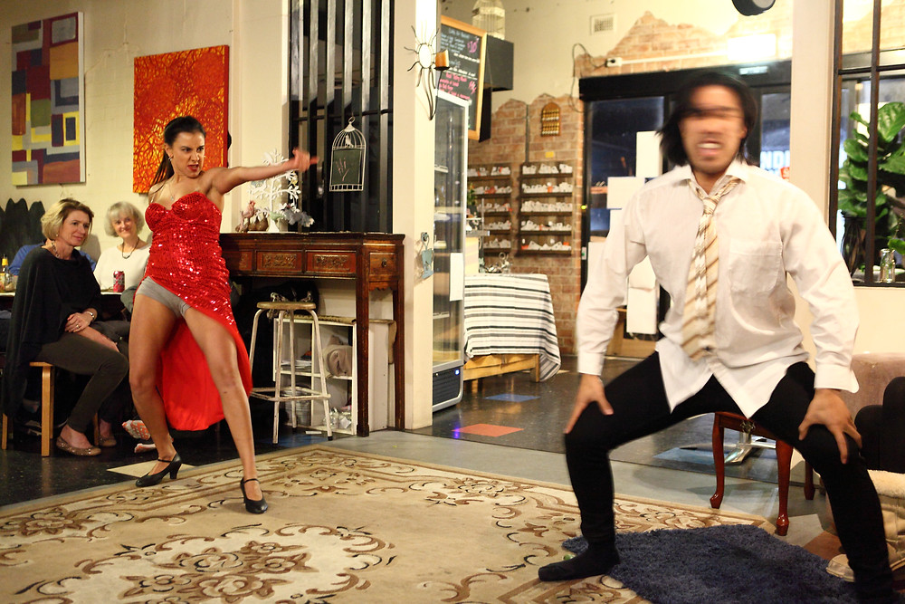Stephanie Rochet and Roger Ly in James Chapman's What is About to Happen on the Dance Floor