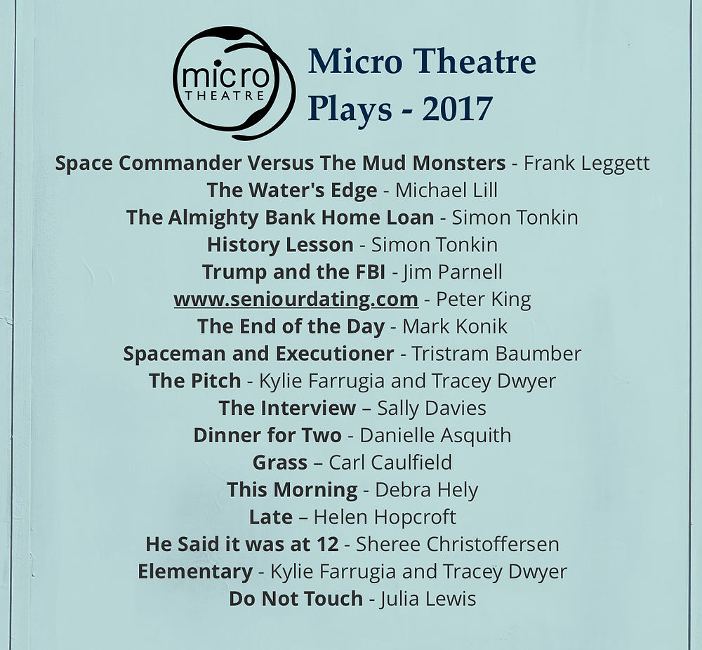 List of Micro Theatre Plays for 2017 Season