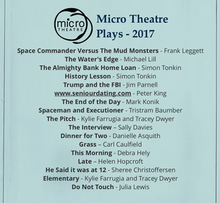 Micro Theatre 2017 Plays