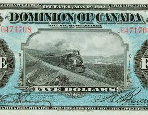 The 1912 Dominion of Canada $5