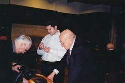 Michael Joffre, Bill Whetstone with/avec client Gerry Maass