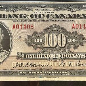 Bank of Canada 1935 Banknotes