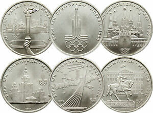 Russian Olympic Coins- USSR Coins of 1980