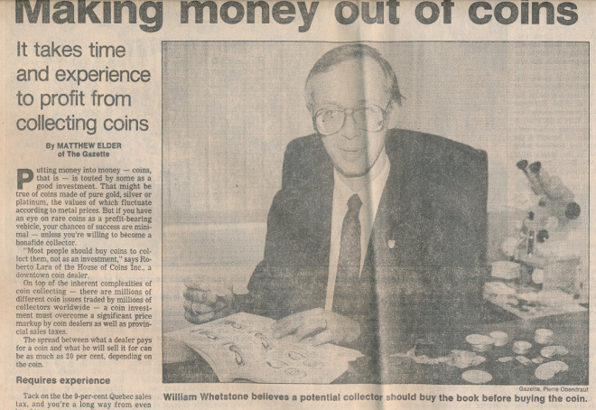 Montreal Gazette 1990's Bill Whetstone